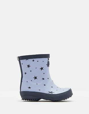 Joules 125055 Printed Wellie Boots in BLUE STAR