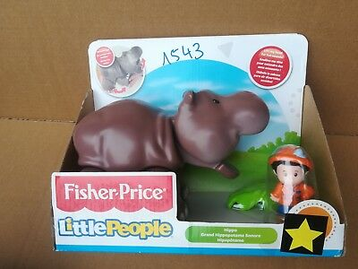 Fisher Price Little People Nilpferd Hippo Flusspferd mit Sound NEU/OVP (1543)