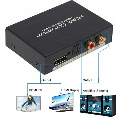New HDMI Audio Extractor Splitter to SPDIF Optical RCA Stereo Analog Converter