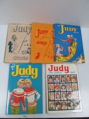 5 x Judy for Girls Annuals Lot