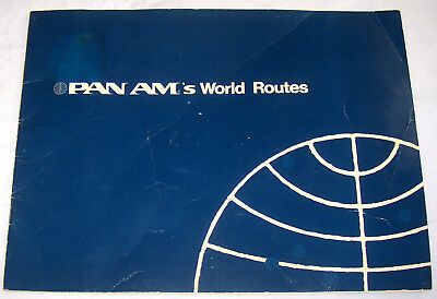 Vintage 1972 Pan Am's World Airline Airways Route Map Atlas Book Booklet
