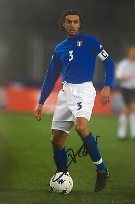 Paolo Maldini signed ItaIy Image G 12x8 photo UACC registered dealer AFTAL RACC