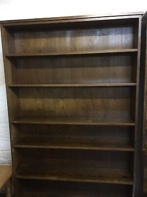 Pitch Pine Library Bookcases ! Lovely Condition ...