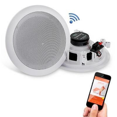 Pyle PDICBT652RD 6.5 inch 200W Bluetooth Ceiling/Wall Flush Mount Speakers(Pair)