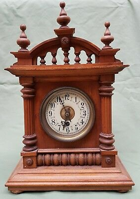 Victorian Bracket Clock with German Movement, by Badische Uhrenfabrik