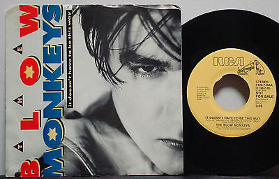 """BLOW MONKEYS """"It Doesn't Have to Be This Way"""" RARE NM 1987 YELLOW DJ PROMO 45 ps"""