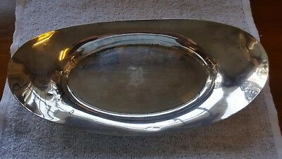 "Sterling Silver Oval Bread Tray Plate 224g 11 3/4"" Marked 1761 Mono"