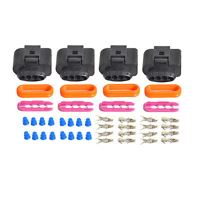 4pcs Ignition Coil Connector Repair Plug Kit For Audi A4 A6 A8 08 09 10 11-16