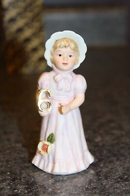 Enesco Growing Up Birthday Girls Ceramic Figurine #6- In Original Box
