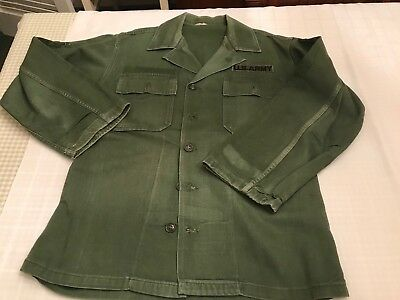 United States Sateen US Army Shirt Size 15 1/2 32 Measured