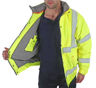 Hi Visibility Fleece lined Bomber Jacket {All Sizes}