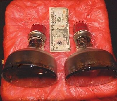 Nos Pair 2 Tubes Type 4456 Photo-Multiplier Tv Camera Photo Multiplier Rca Giant