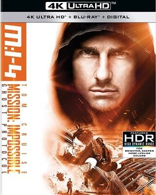 MISSION IMPOSSIBLE 4 GHOST PROTOCOL New Sealed 4K Ultra HD UHD + Blu-ray