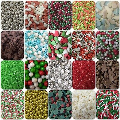 🎄 Christmas Holly Trees Candy Canes Sugar Sprinkles Cake Cupcake Decorations