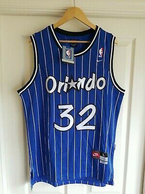 dd347910b14 NWT Shaquille Shaq O neal Orlando Magic Blue Swingman Throwback Jersey L  SEWN