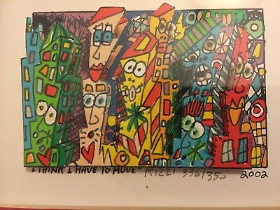 james rizzi 3 d i think i have to move signed numbered