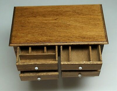 SUPERB - Signed   Jeanne Chapman Dollhouse Miniature Furniture - Bin Table 1980s