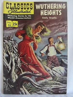 """Classics Illustrated No 59 """" Wuthering Heights """" (CH)"""