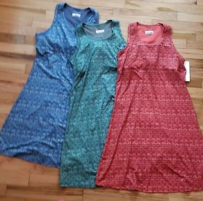 c1e02a09c205 NWT COLUMBIA SATURDAY TRAIL ll SLEEVELESS KNIT DRESS M GREEN BLUE ORANGE  65