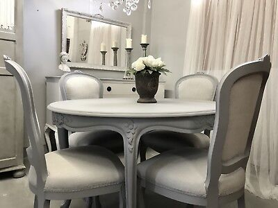 Shabby Chic French Style Dining Table 4 Chairs Laura