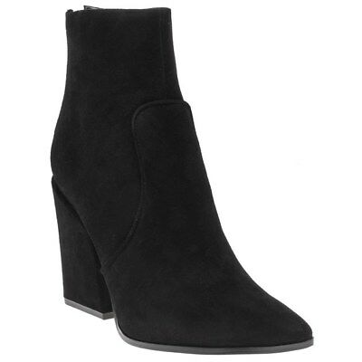 New Womens Kendall + Kylie Black Fire Suede Boots Ankle Elasticated