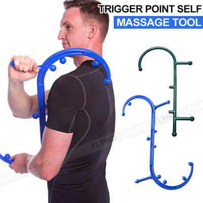 Body Trigger Point Self Therapy Massage Tool Back & Neck Acupressure Massager