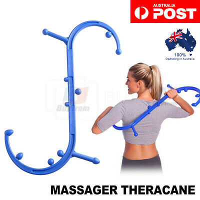 Theracane Trigger Point Self-Massage Tool S-Shaped Body Muscle Deep Pressure