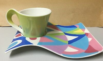 """Villeroy &  Boch NEW WAVE CAFFE FASHIONISTA Cafe CAPPUCINO  Set Cup """"NEW"""""""
