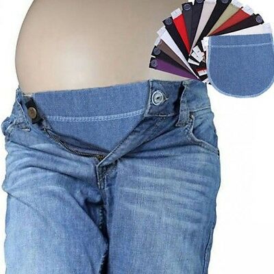 2 Pcs Maternity Pregnancy Waistband Belt ADJUSTABLE Elastic Waist Extender Pants