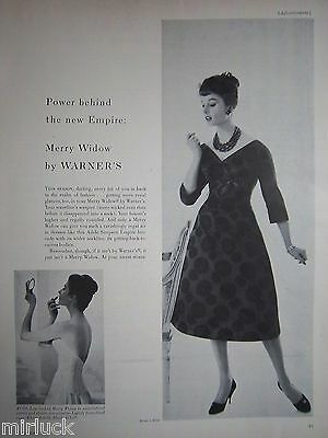 1958 Vintage Womens Merry Widow Bra The New Empire by Warner's Ad