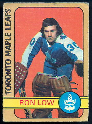 1972-73 OPC O PEE CHEE HOCKEY #258 RON LOW RC VG TORONTO MAPLE LEAFS ROOKIE Card