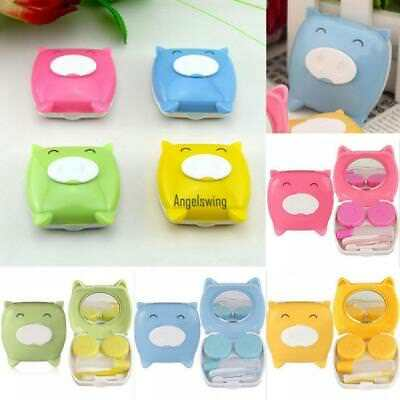 Portable Cute Cartoon Animal Piglet Contact Lens Solution Box Storage AGSG