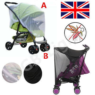 Stroller Pushchair Pram Mosquito Fly Insect Net Mesh Buggy Cover For Baby RLTS