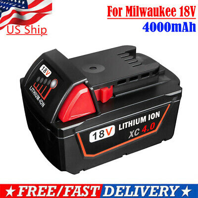 Replace For Milwaukee M18 48-11-1815 48-11-1850 18V 4.0AH 18 Volt Li-ion Battery
