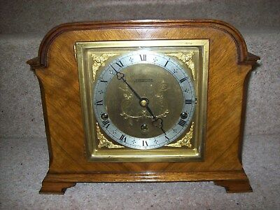 Elliott Walnut Whittington/ Westminster Quarter Chiming Mantle Clock
