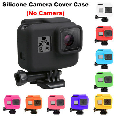 For Go pro Hero 5 Black Side Frame Soft Silicone Protective Housing Case Cover~-
