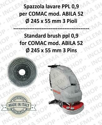 Cleaning BRUSH ppl 0,9 for scrubber dryers COMAC mod. ABILA 52 with 3 pioli
