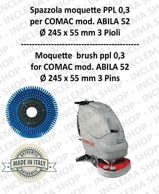 Moquette brushe ppl 0,3 for scrubber dryers COMAC mod. ABILA 52 with 3 pioli