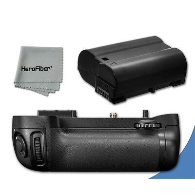 PRO Battery Grip for Nikon D600 DSLR Camera + 1 High Capacity EN-EL15 Battery