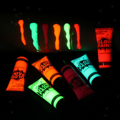 6pcs Neon UV Glow Face Body Paint Kids Adults Club Halloween Party Make up