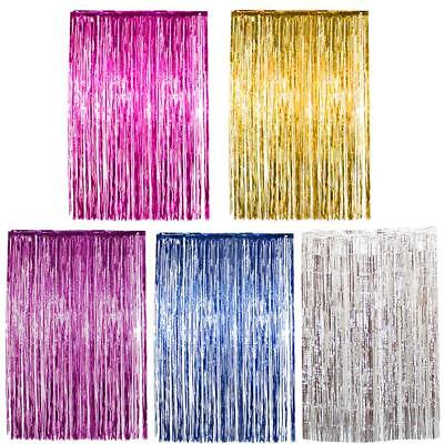 Foil Door Curtain Shimmer Birthday Party Decorations Garland Party Background