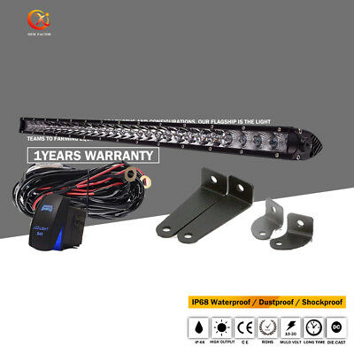 20 Inch Single Row LED Light Bar Slim+wire for Offroad SUV Jeep Ford 150 250 350