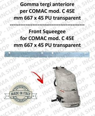 Squeegee rubber front for scrubber dryers COMAC C 45E