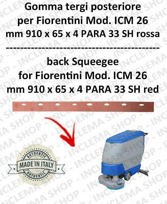 Squeegee rubber back for scrubber dryers FIORENTINI mod. ICM 26