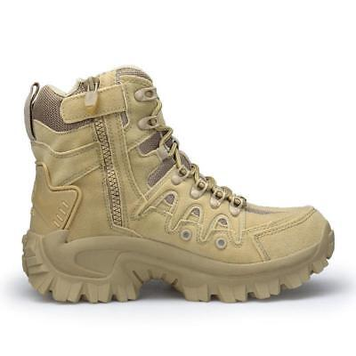 Mens High Top Military Tactical Boots Desert Army Hiking Combat Ankle Boots
