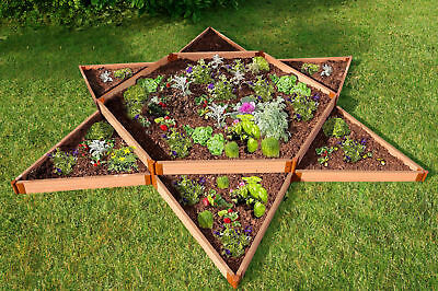 Frame It All Classic Sienna Star 12 ft x 12 ft Composite Raised Garden