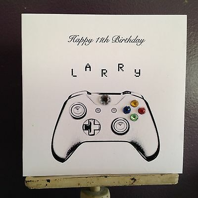 Personalised Xbox Controller Birthday Card 16th 18th 21st Son Brother Dad 9