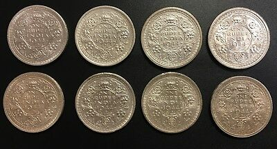 British India ONE RUPEE, 1944 L Uncirculated Silver