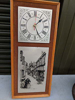Vintage clock with metal panels and new movement TC250818DD