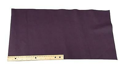 "Upholstery Leather Piece Cowhide Purple, 12"" x 24"", Light Weight, 2 Square Feet"